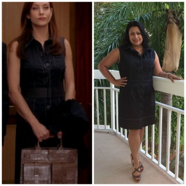 Black Denim Button-Down Dress