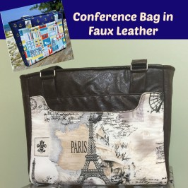 Conference Bag Using Faux Leather