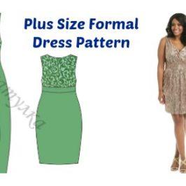 Plus Size Formal Dress Pattern FREE