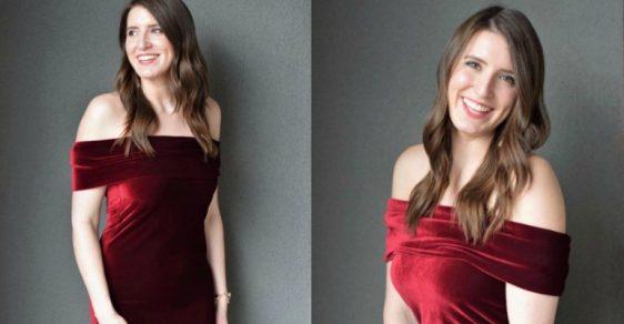 DIY Fold Over Velvet Dress Tutorial