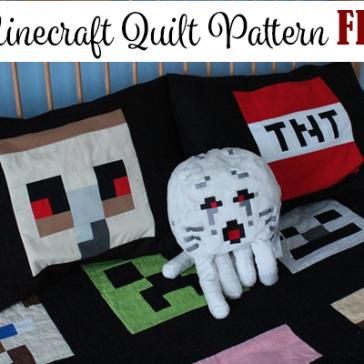 Minecraft Quilt Pattern FREE