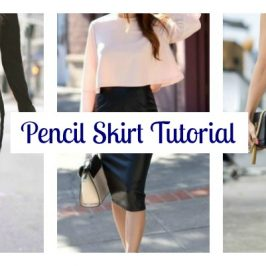Pencil Skirt Tutorial and Sew Along