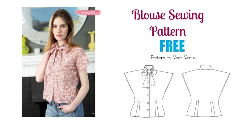 Free Blouse Sewing Pattern: Pussycat Bow Blouse