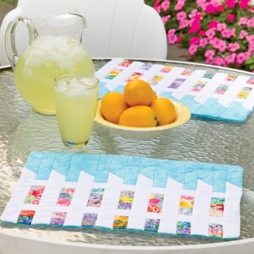 Picket Fence Placemats Pattern FREE