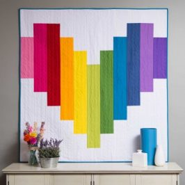 Piece of My Heart Strip Quilt Pattern FREE