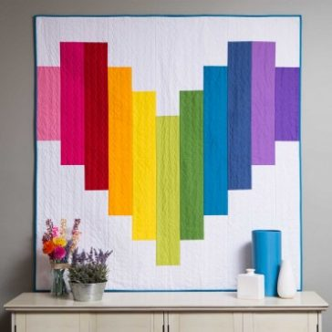 Piece of My Heart Strip Quilt Pattern FREE
