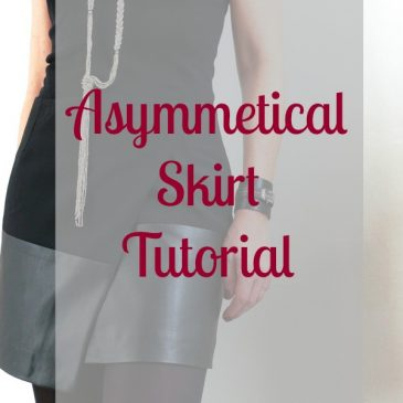 Asymmetric Wrap Skirt Tutorial
