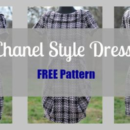 Chanel Little Black Dress – FREE Sewing Pattern