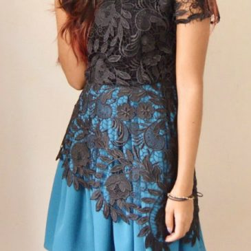 DIY Lace Combo Dress Tutorial
