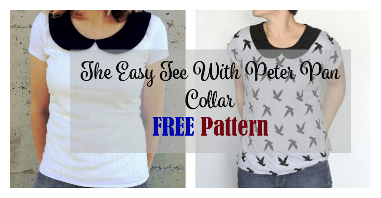 The Easy Tee With Peter Pan Collar FREE Pattern