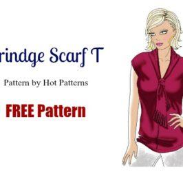 Free Blouse Sewing Pattern: Fringe Festival Scarf T