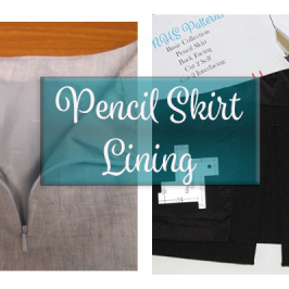 Pencil Skirt Lining With Mitered Hem