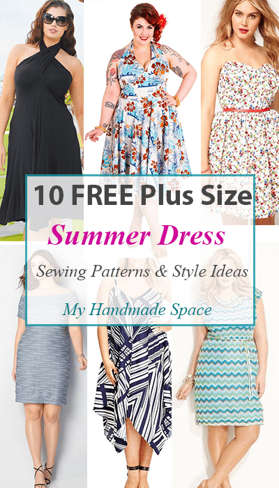 10 FREE Plus Size Summer Dress Patterns - My Handmade Space