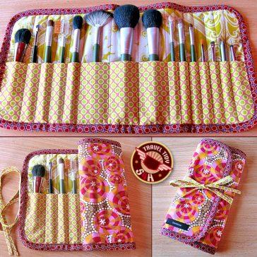 Makeup Brush Case Sewing Pattern FREE