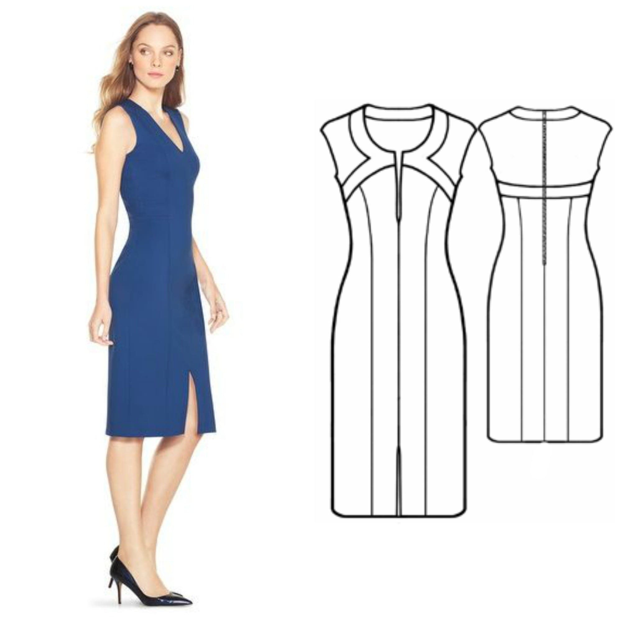 how to make evening dress pattern