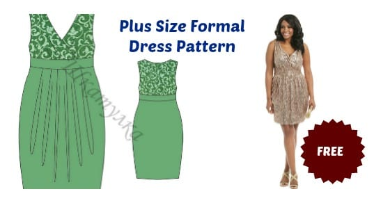 Plus Size Formal Dress Pattern FREE - My Handmade Space